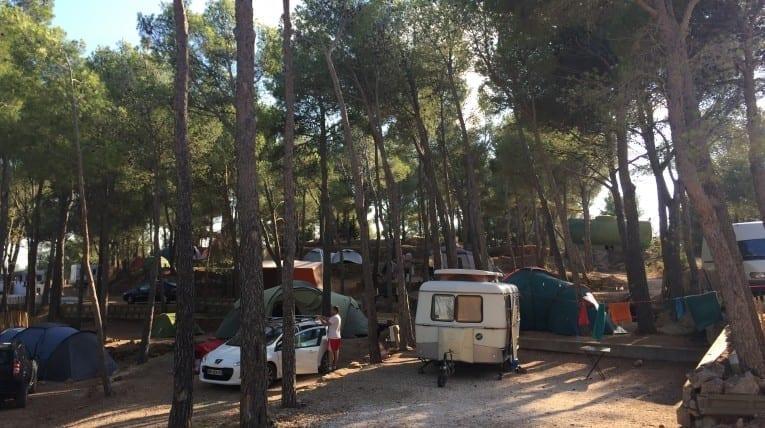 Emplacements camping-cars et caravanes - Le bois de pins, camping - Perpignan 66